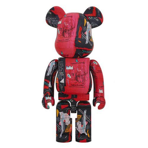 medicom toy bearbrick andy warhol x j.m. basquiat 1000% toy 1000waba#1