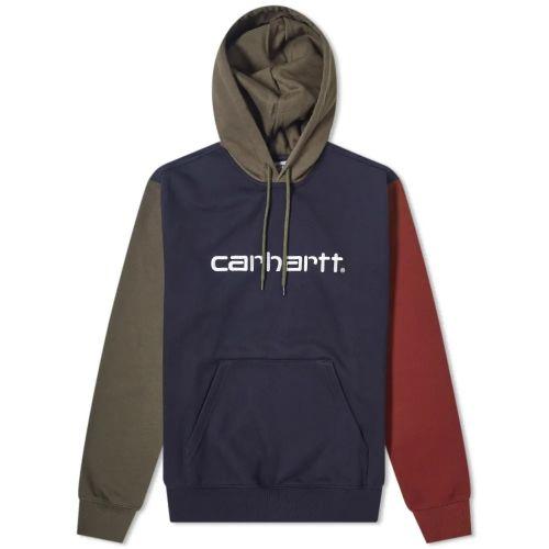 carhartt tricolor uomo felpa con cappuccio I028353