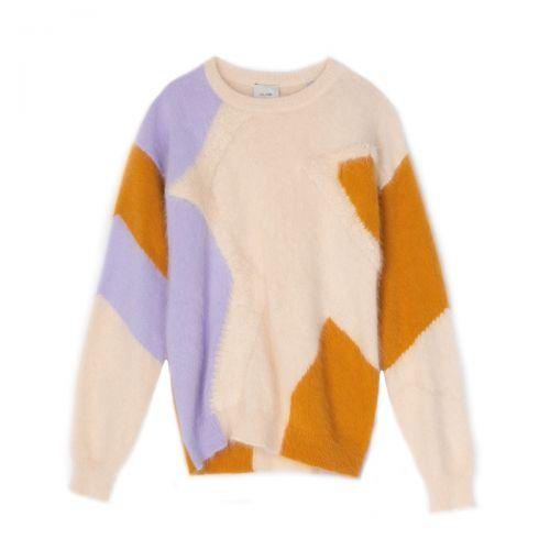 alysi angora tricot girocollo woman cardigan 251419