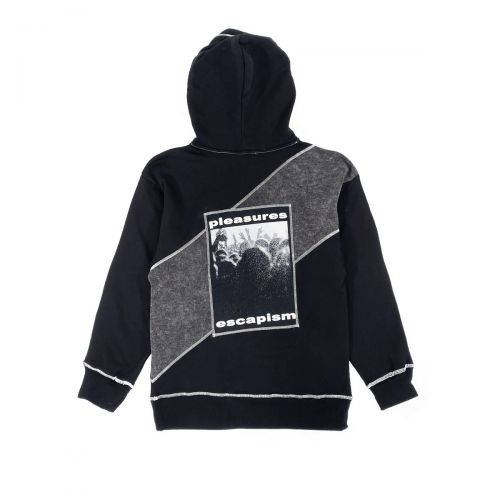 pleasures black collapse hoody hombre sudadera con capucha P21SP010