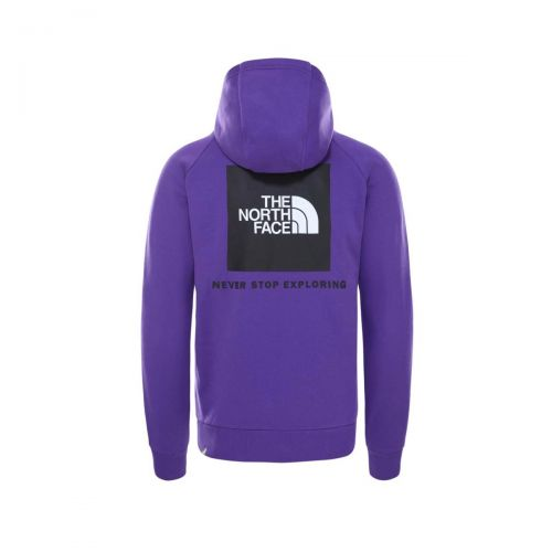 the north face raglan red box uomo felpa con cappuccio NF0A2ZWUNL41