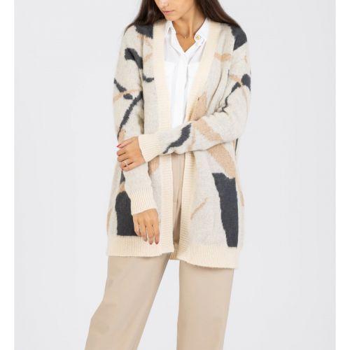 alysi cardigan ribbon jacquard woman cardigan 250466