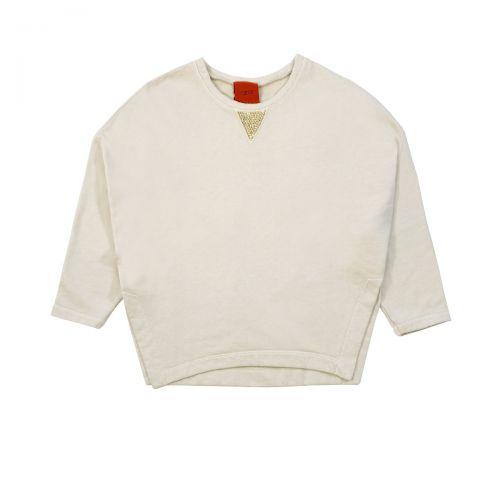 rame felpa con borchiette femme sweat-shirt FFSWE02