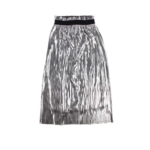 rame plisse' metallizzata  woman skirt  FFGON04