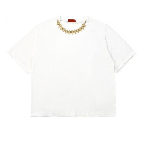 rame passamaneria al collo femme t-shirt GSSHI01