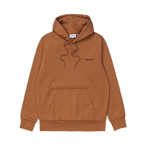 carhartt hooded script embroidery sweat homme sweat à capuche I028937