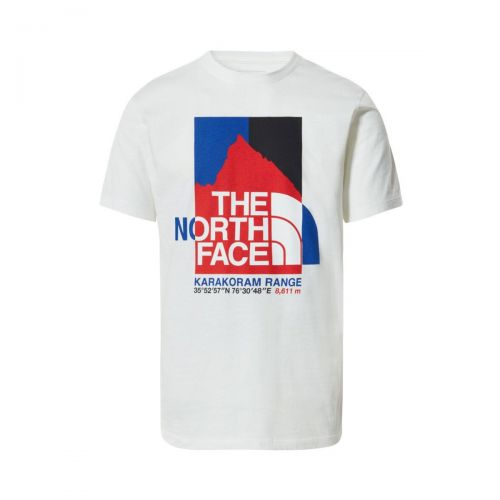 the north face m karakoram graphic s/s tee uomo t-shirt 55UL