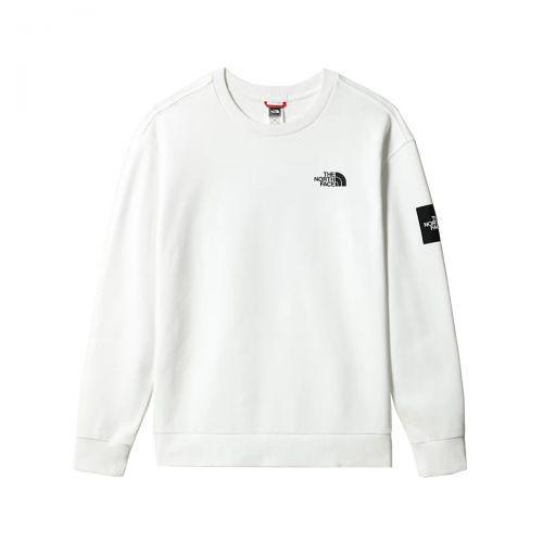 the north face m black box crew fleece man sweatshirt 557G