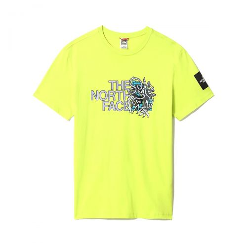 the north face m black box ss graphic tee homme t-shirt 557L