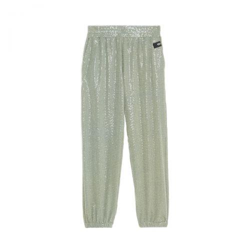 ottod'ame jogger con applicazioni scintillanti  mujer pantalones DP8706