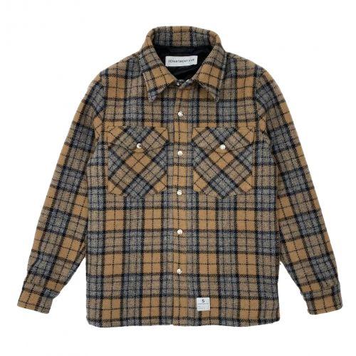 department 5 panno chechk man  jacket-shirt UC015-2TF0063