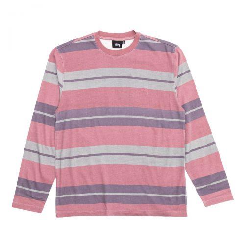 stussy faded striped crew hombre camisa de entrenamiento 1140269