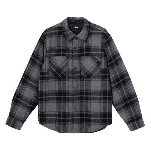 stussy max plaid quilted shirt uomo capospalla 1110122