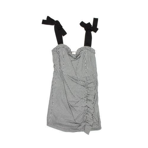 eleh microcheck mujer camiseta sin mangas ESSC028