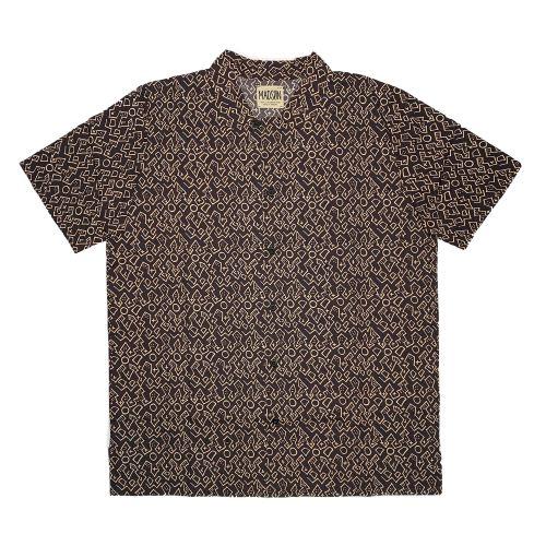 bottega chilometri zero m/c  fantasia stampata uomo camicia DU20049