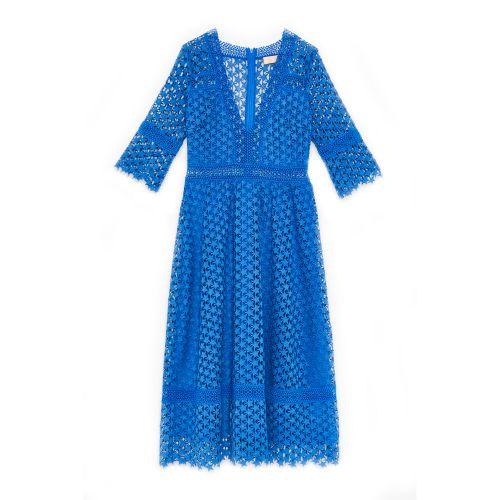 tresor by ottod'ame midi in macrame woman dress TA3795