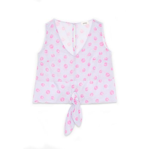 ottod'ame stampa pois con nodo frau muskelshirt DT8816