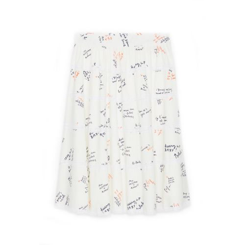 ottod'ame midi con stampa words donna gonna DN5786