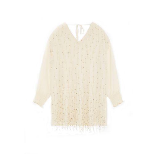 tresor by ottod'ame mini con applicazione frange e gioiello woman cardigan TA3808
