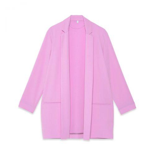 ottod'ame blazer con rever in tinta woman jacket eg5529