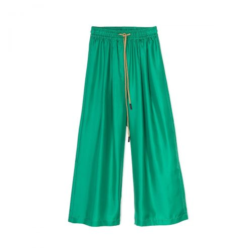 alysi twill seta ampio woman pants 101149