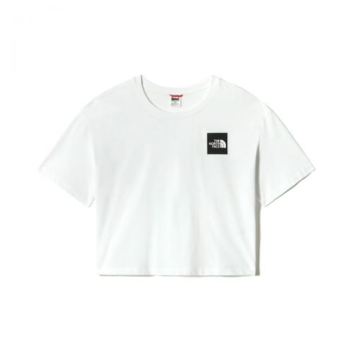 the north face w cropped fine tee woman t-shirt 4sy9