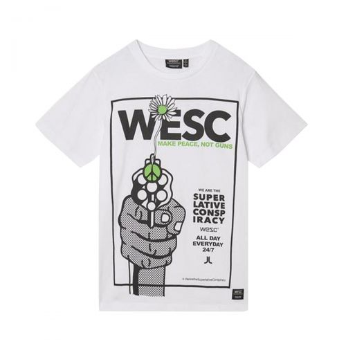 wesc max make peace unisex t-shirt L1122320