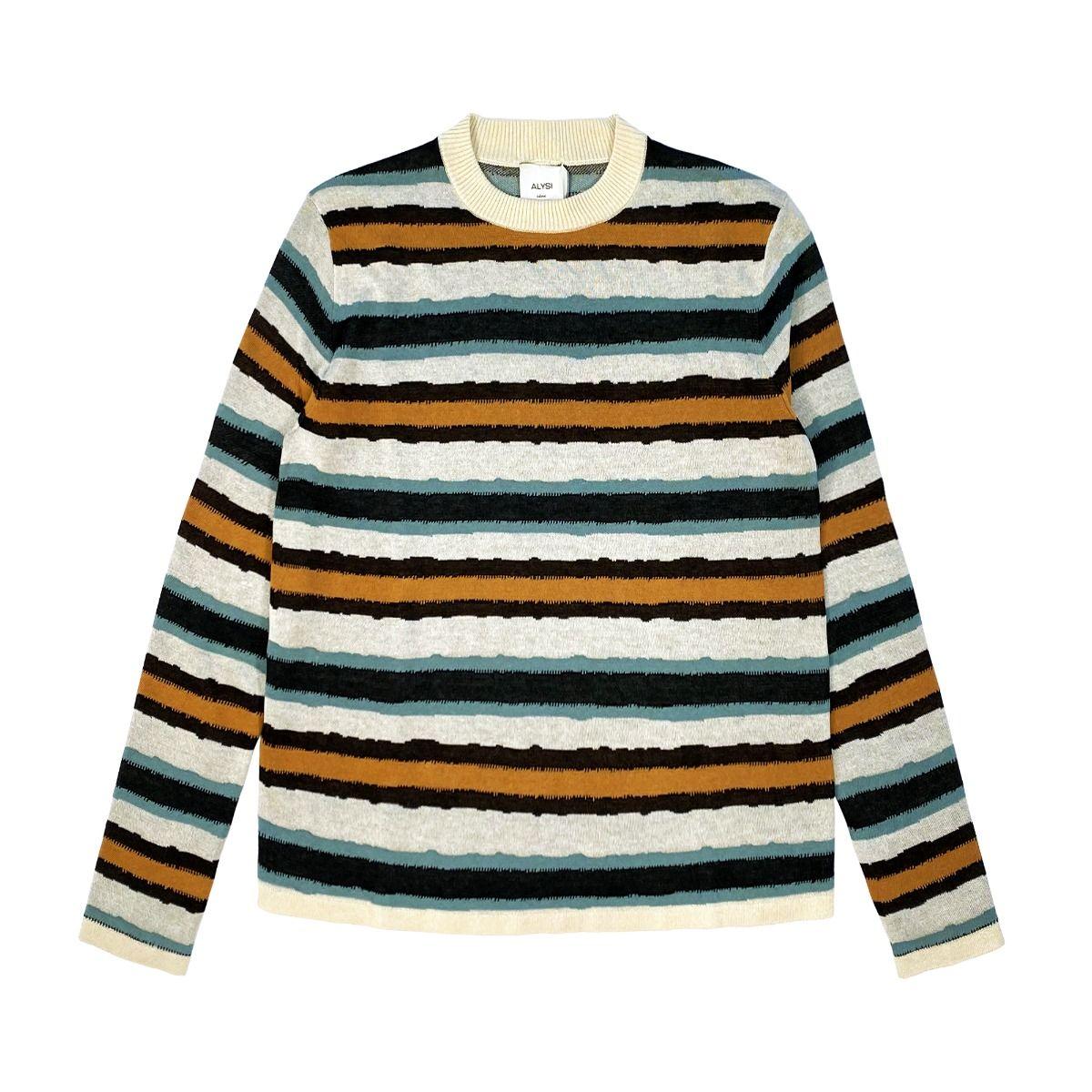 alysi tricot lines jacquard donna maglia 201421