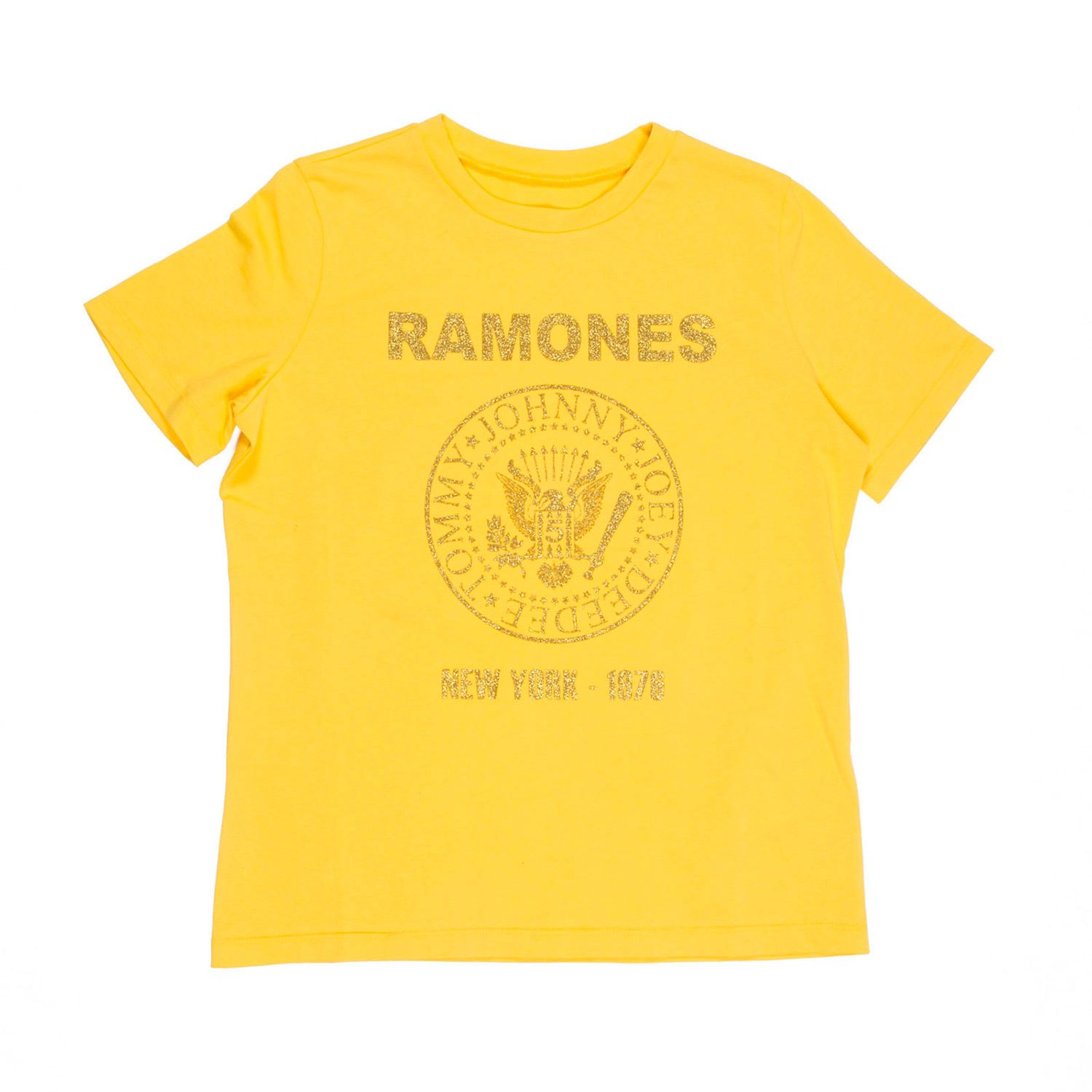 department 5 slim you ramones glitter woman t-shirt D19J02