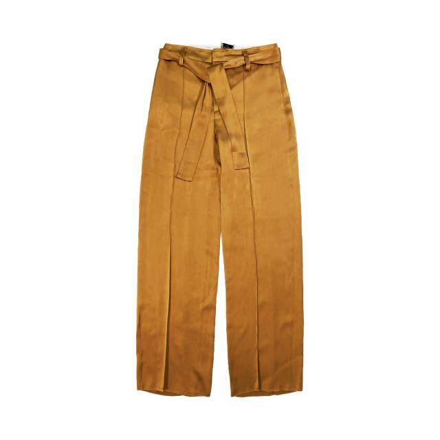 alysi liquid satin woman pants 101140