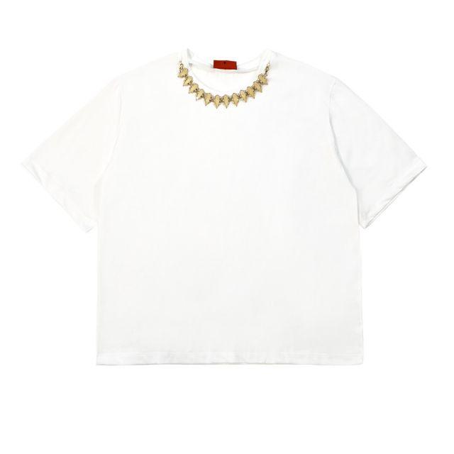 rame passamaneria al collo donna t-shirt GSSHI01