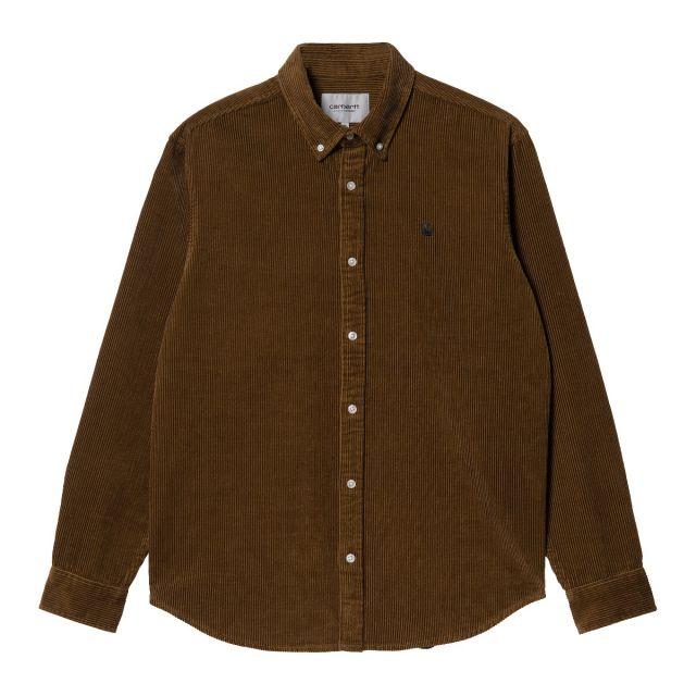 carhartt madison cord shirt uomo giacca-camicia I029958