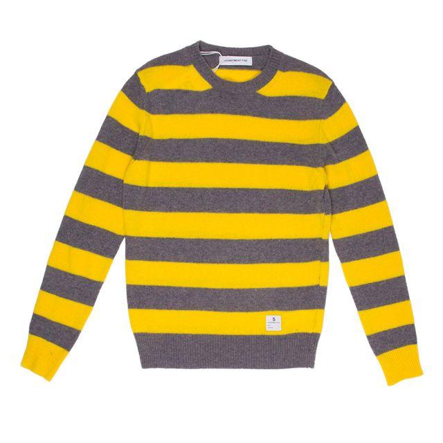 department 5 maglia girocollo rigata torbay uomo cardigan U19M04